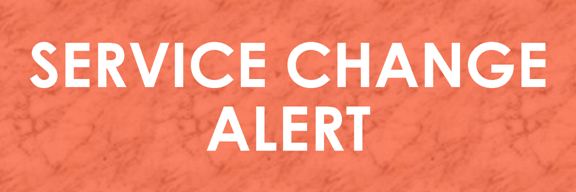 Service Change Alert Banner