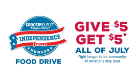 Independence from Hunger at Grocery Outlet